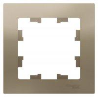 Schneider Electric AtlasDesign Шампань Рамка 1-постовая купить в интернет-магазине Азбука Сантехники