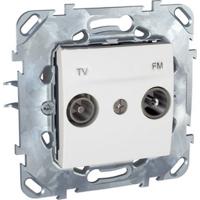 Schneider Electric Unica Белый Розетка TV-FM проходная купить в интернет-магазине Азбука Сантехники