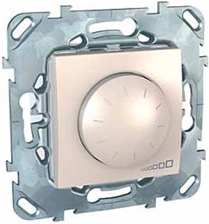 Schneider Electric Unica Бежевый Светорегулятор поворотный 40-400 Вт для л/н г/л с обмоточным трансформатором купить в интернет-магазине Азбука Сантехники