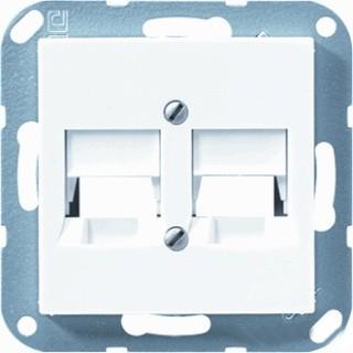 Jung Белый Накладка для модульных гнезд 2 мод купить в интернет-магазине Азбука Сантехники