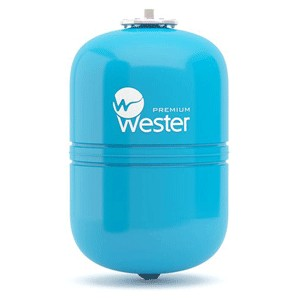 """Расширительный бак Wester WAV 8 л для водоснабжения Ø 3/4"""" вертикальный, синий"""