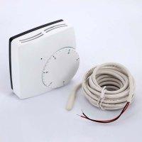 Термостат комнатный электронный Watts WFHT Dual с датчиком температуры теплого пола (кабель датчика 3 м) 230 В купить в интернет-магазине Азбука Сантехники