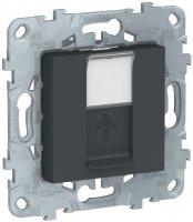 Schneider Electric Unica New Антрацит Лицевая панель RJ45 KEYSTONE/SYSTIMAX купить в интернет-магазине Азбука Сантехники