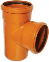 Тройник ПВХ Ø 110 × 110 мм × 87° для наружной канализации купить в интернет-магазине Азбука Сантехники