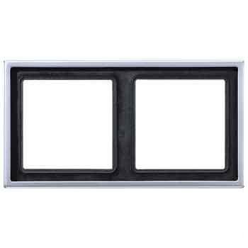 Jung LS 990 Алюминий Рамка 2-постовая купить в интернет-магазине Азбука Сантехники