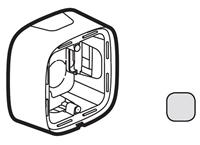 Legrand Valena Allure Алюминий Коробка для накладного монтажа 1-ая купить в интернет-магазине Азбука Сантехники