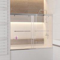 Шторка на ванну RGW Screens SC-66, 1500 × 1500 мм, с прозрачным стеклом, профиль — хром купить в интернет-магазине Азбука Сантехники