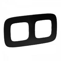 Legrand Valena Allure Матовый черный Рамка 2 поста купить в интернет-магазине Азбука Сантехники