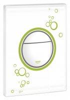 Кнопка смыва Grohe Nova Cosmopolitan 38847LS0 белая с зеленым купить в интернет-магазине Азбука Сантехники