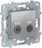 Schneider Electric Unica New Алюминий Розетка R-TV/SAT оконечная купить в интернет-магазине Азбука Сантехники