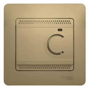 Schneider Electric Glossa Титан Термостат электронный теплого пола с датчиком 10A купить в интернет-магазине Азбука Сантехники
