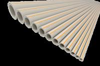 Труба полипропиленовая армированная PP-RCT FV-plast FASER HOT Ø 25 × 3,5 мм со стекловолоконным слоем (штанга 4м) купить в интернет-магазине Азбука Сантехники