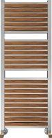 Полотенцесушитель водяной Benetto Legno Римини П25 530 × 1276, цвет - вишня купить в интернет-магазине Азбука Сантехники