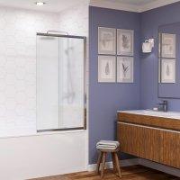 Стеклянная шторка на ванну WasserKRAFT Main 41S02-100R Matt glass купить в интернет-магазине Азбука Сантехники