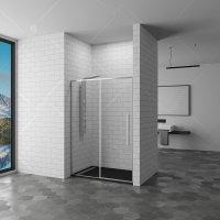 Душевая дверь RGW Stilvoll SV-12, 1000 × 1950 мм, с прозрачным стеклом, профиль — хром купить в интернет-магазине Азбука Сантехники