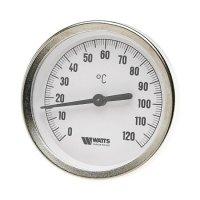 Термометр биметаллический Watts F+R801 100/100 (120 °C) с погружной гильзой 100 мм, штуцер 100 мм купить в интернет-магазине Азбука Сантехники