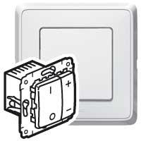 Legrand Cariva Белый Светорегулятор нажимной 40-600 Вт для л/н купить в интернет-магазине Азбука Сантехники