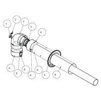 Присоединение к воздуховоду шахтовое для дымохода Protherm Ø 60/100 мм, для котлов Гепард ПАНТЕРА 2015 купить в интернет-магазине Азбука Сантехники