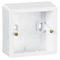 Legrand Cariva Белый Коробка монтажная 1-местная для накладного монтажа купить в интернет-магазине Азбука Сантехники