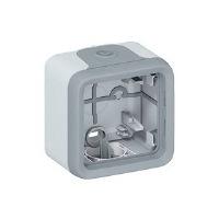 Legrand Plexo Серый Коробка монтажная 1-местная для накладного монтажа IP55 купить в интернет-магазине Азбука Сантехники