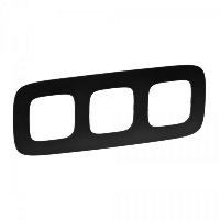 Legrand Valena Allure Матовый черный Рамка 3 поста купить в интернет-магазине Азбука Сантехники