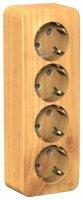 Schneider Electric Blanca Ясень Розетка 4-я с/з со шторками накладного монтажа с изолирующей пластиной 16A 250В купить в интернет-магазине Азбука Сантехники