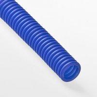 Гофра для трубы Ø 16 мм синяя (50 метров)