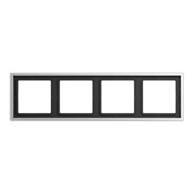 Jung LS 990 Алюминий Рамка 4-постовая купить в интернет-магазине Азбука Сантехники