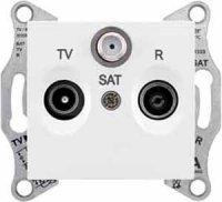 Schneider Electric Sedna Белый Розетка TV/R-SAT оконечная 1dB купить в интернет-магазине Азбука Сантехники