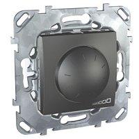 Schneider Electric Unica Top Графит Светорегулятор поворотный 40-400 Вт для л/н г/л с обмоточным трансформатором купить в интернет-магазине Азбука Сантехники