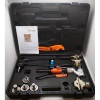 Комплект гидравлического инструмента TIM FT-1240B-QC для труб PEX и аксиальных фитингов купить в интернет-магазине Азбука Сантехники
