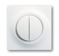 ABB BJE Impuls Белый Клавиша 2-ая с подсветкой