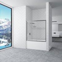 Шторка на ванну RGW Screens SC-043, 1700 × 1500 мм, стекло сатинат, профиль — хром купить в интернет-магазине Азбука Сантехники