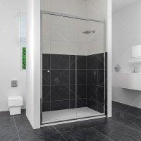 Душевая дверь RGW Classic CL-12, 1000 × 1850 мм, стекло шиншилла, профиль — хром купить в интернет-магазине Азбука Сантехники