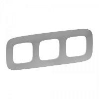 Legrand Valena Allure Алюминий Рамка 3 поста купить в интернет-магазине Азбука Сантехники