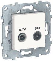 Schneider Electric Unica New Белый Розетка R-TV/ SAT одиночная купить в интернет-магазине Азбука Сантехники