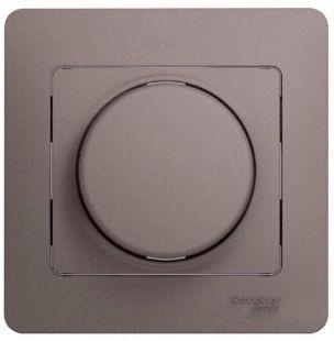 Schneider Electric Glossa Платина Светорегулятор (диммер) поворотный 300Вт в сборе купить в интернет-магазине Азбука Сантехники