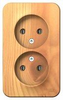 Schneider Electric Blanca Ясень Розетка двойная б/з без шторок накладного монтажа с изолирующей пластиной 16A 250В купить в интернет-магазине Азбука Сантехники