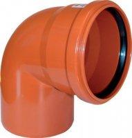Отвод ПВХ Ø 200 мм × 90° для наружной канализации купить в интернет-магазине Азбука Сантехники