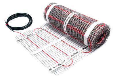 Теплый пол электрический Devi Devimat DTIF-150 — 0,5 × 1 м с гофротрубкой (0.5 м²)