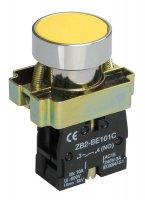 IEK Кнопка управления LAY5-BA51 без подсветки желтая 1з купить в интернет-магазине Азбука Сантехники