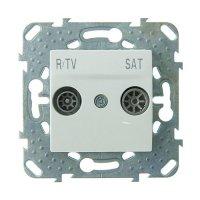Schneider Electric Unica Белый Розетка TV-SAT проходная купить в интернет-магазине Азбука Сантехники