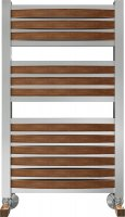 Полотенцесушитель водяной Benetto Legno Римини П15 480 × 786, цвет - сапеле купить в интернет-магазине Азбука Сантехники