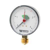 Манометр Watts радиальный с указателем предела (0–4 бар), корпус — Ø 50 мм купить в интернет-магазине Азбука Сантехники