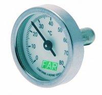 Термометр биметалический FAR 0–120 °C (без фиксатора) для шаровых кранов купить в интернет-магазине Азбука Сантехники