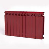 Радиатор биметаллический RIFAR Monolit 500, боковое подключение, 12 секций, бордо (RAL 3011 красный) купить в интернет-магазине Азбука Сантехники