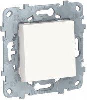 Schneider Electric Unica New Белый Выключатель 1-клавишный кнопочный сх.1 10A купить в интернет-магазине Азбука Сантехники