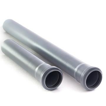 Труба с раструбом Политэк Ø 40 мм × 2,7 × 1000 мм полипропиленовая серая купить в интернет-магазине Азбука Сантехники