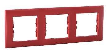 Schneider Electric Sedna Красный Рамка 3-постовая горизонтальная купить в интернет-магазине Азбука Сантехники