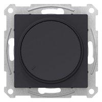 Schneider Electric AtlasDesign Карбон Светорегулятор (диммер) поворотно-нажимной 315Вт механизм купить в интернет-магазине Азбука Сантехники